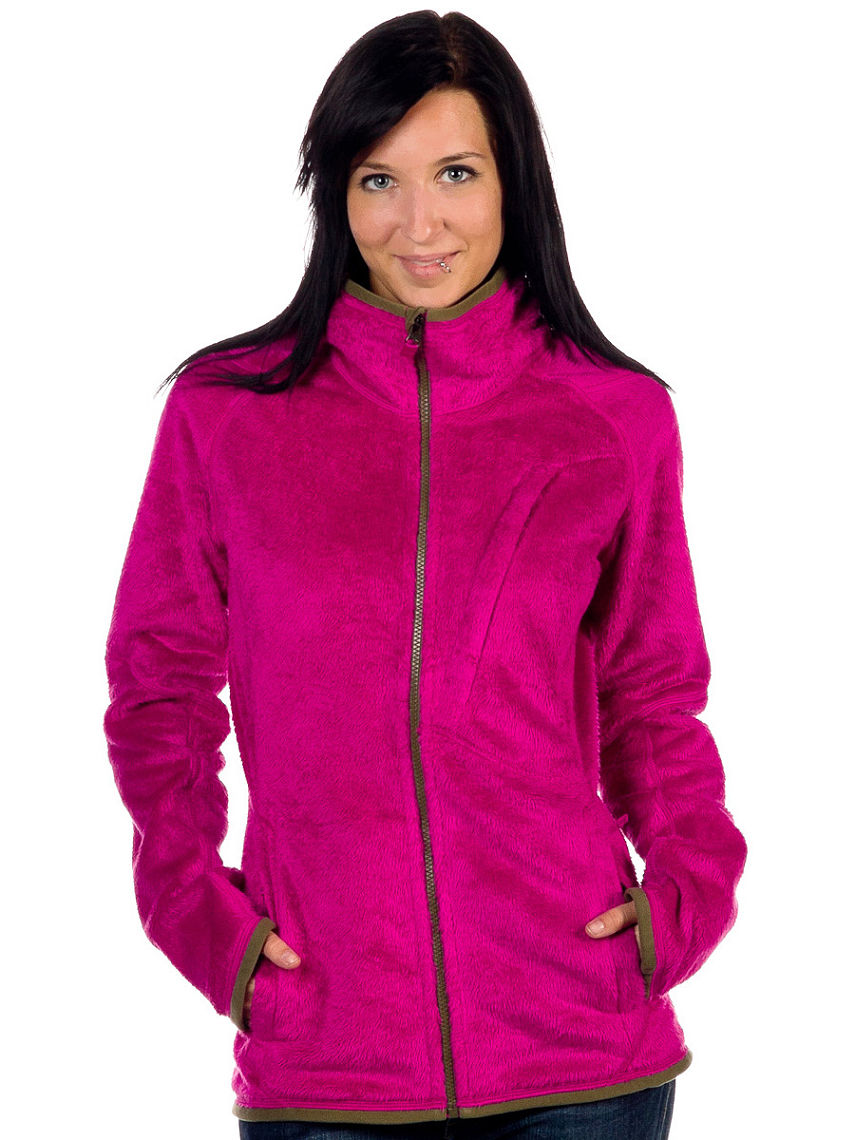 Womens Pink Fleece Jacket - JacketIn