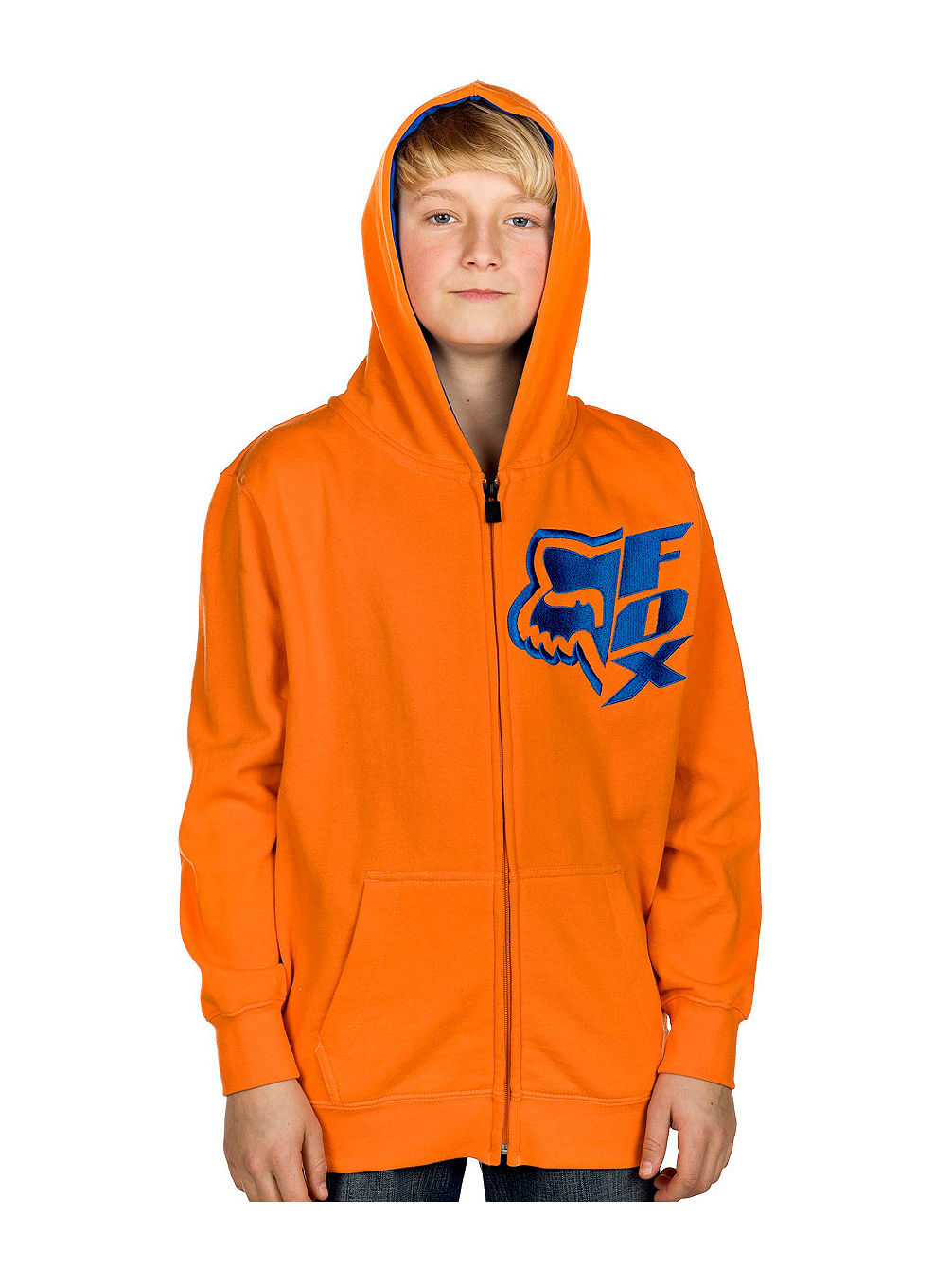 Vertical Zip Hood youth