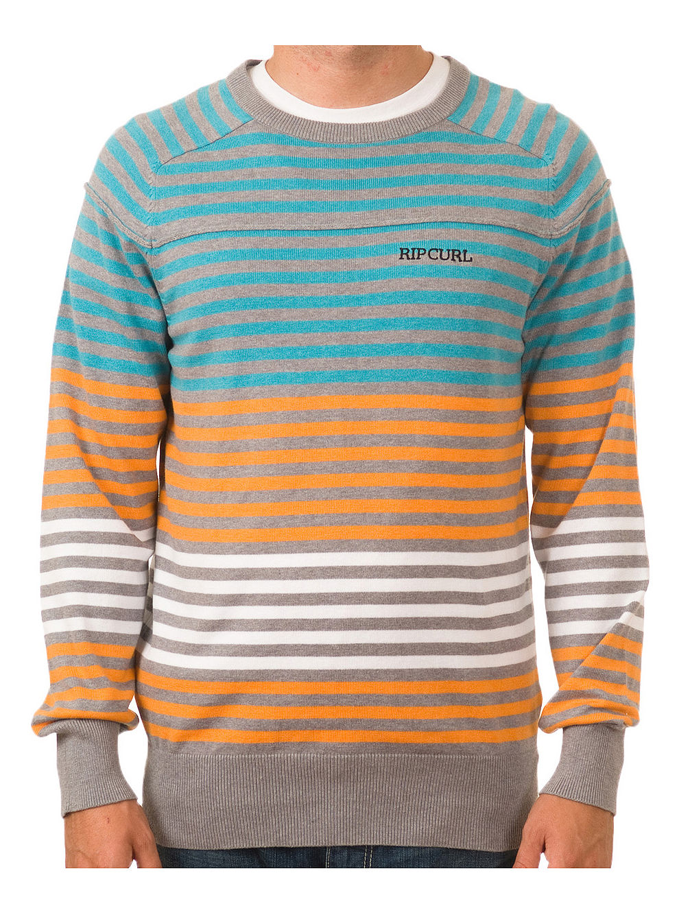 Big Stripe Crew Sweater