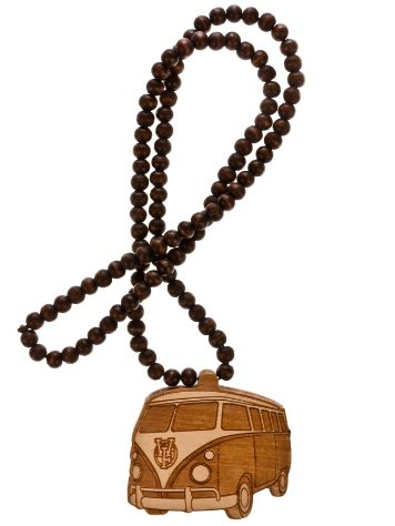 Wood Fellas Bus Necklace