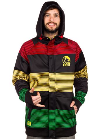 Neff Striped Shredder Zip Hoodie