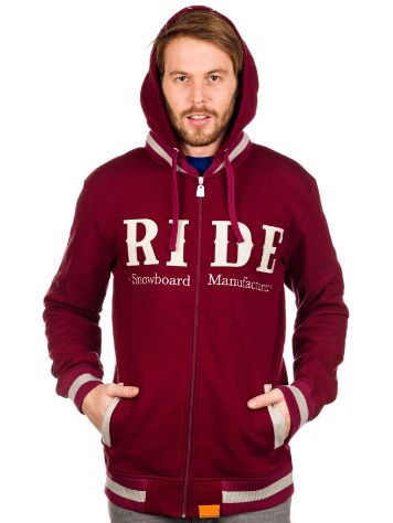 Ride Heathered Slim Full Zip Hoodie