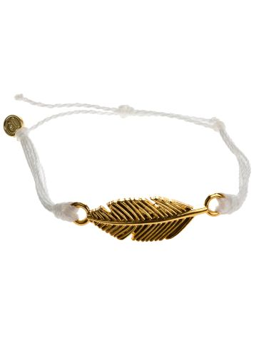 Pura Vida White Feather Bracelet
