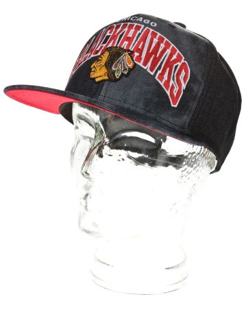 Mitchell & Ness Chicago Blackhawks Black All Over Dyed Cap