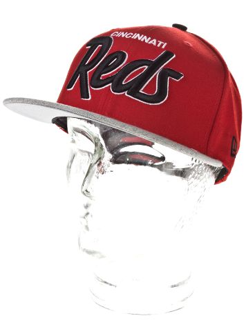 New Era Cincinnati Reds Team Script Heather Cap