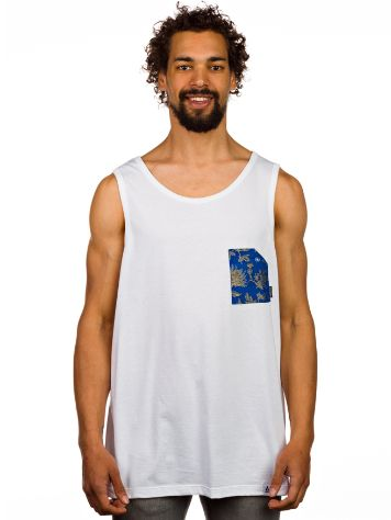 akomplice Blue Floral Pocket Tank Top