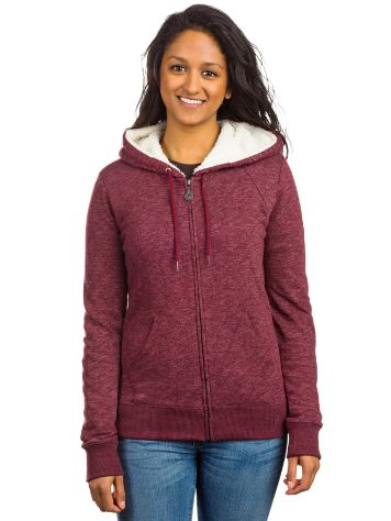 Volcom Lived In Sherpa Lined Zip Hoodie