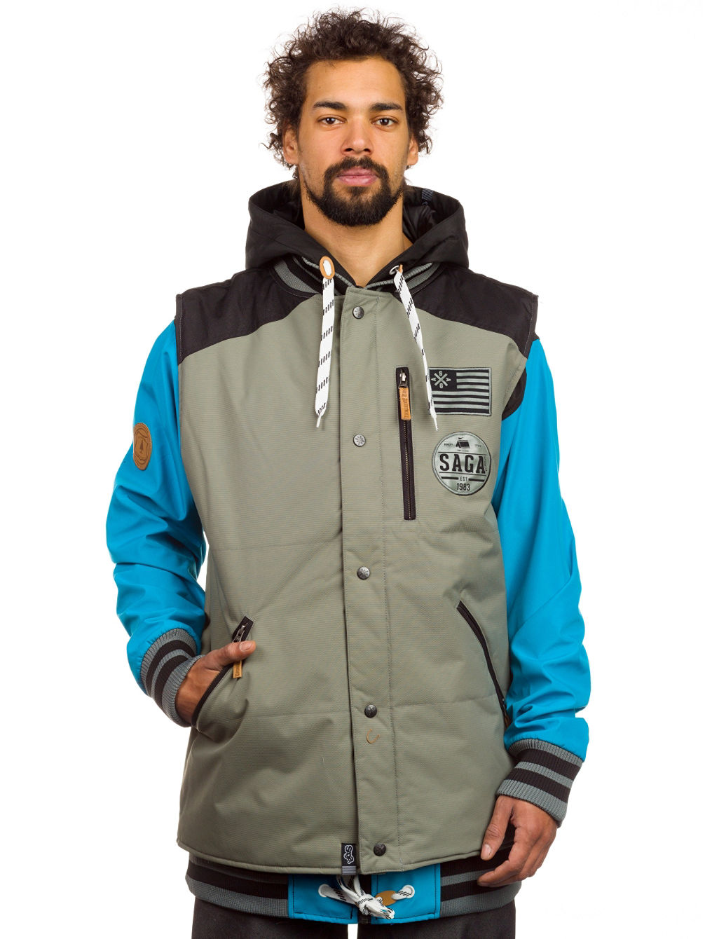 Buy Saga Outerwear Puff Vest u0026 Poly Combo Jacket online at blue-tomato.com