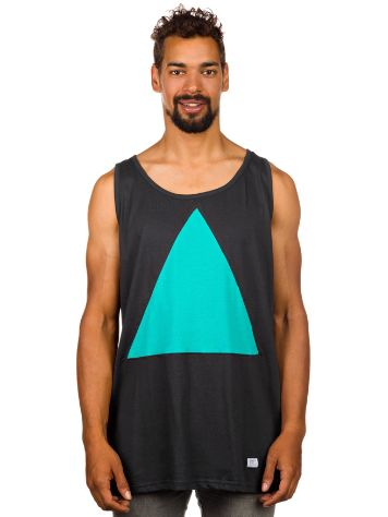 akomplice Aqua Triangle Cut Tank Top