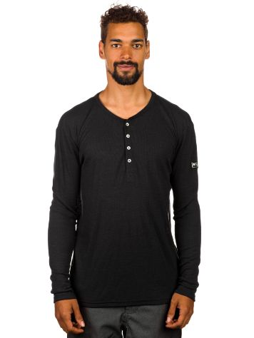 super.natural Base 4 Button Henley Rib 165 Tech Tee LS