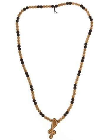Wood Fellas Clef Wheat/Brown Necklace