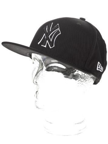 New Era NY Yankees Black White Basic Cap