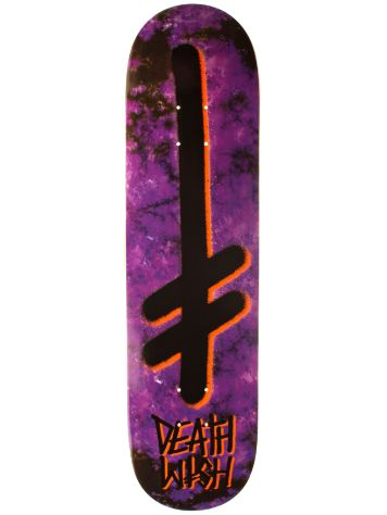 "Deathwish Gang Logo Marble Purple Black 8.125"" Deck"
