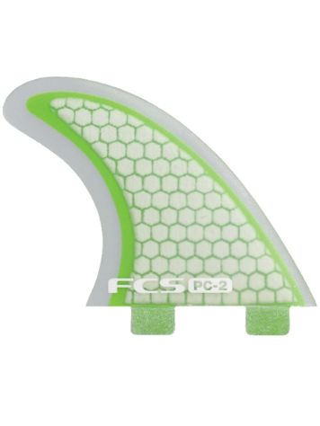 FCS PC-2 Green/Clear Tri Fin Set