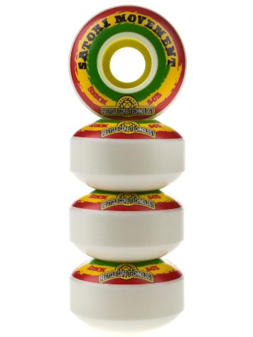 Satori Recycled Core Rasta Swirl 80b 53mm Wheels
