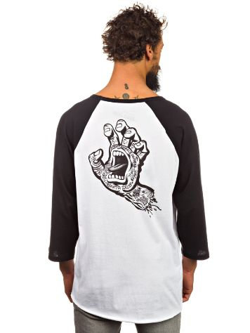 Santa Cruz Tattooed Hand Baseball T-Shirt LS
