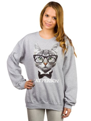 Aperture Girls Cat Person Crew Sweater