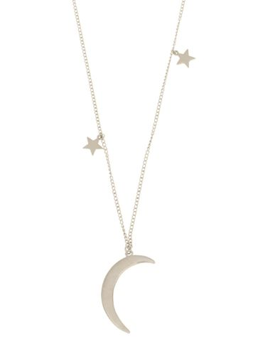 mint Moon & Stars Necklace
