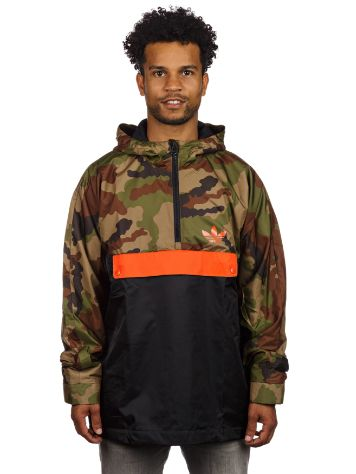 adidas Originals Halfzip Hooded Windbreaker Camo Jacket