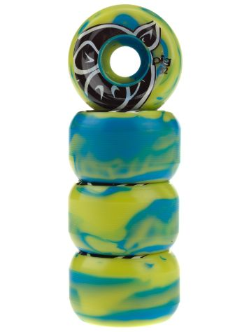 Pig Wheels Head Swirl Blue Lime 52mm Wheels