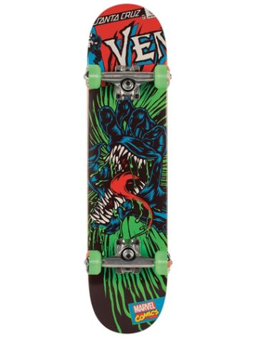 "Santa Cruz Marvel Venom Hand Mini 7.0"" Skate Comple"