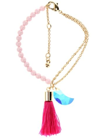 Blue Tomato BT Tassel Bracelet with Swarovski Crystals