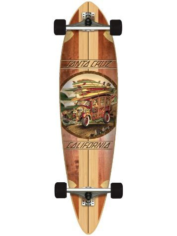 "Santa Cruz Cali Cruiser Pin Tail 9.6"" x 39"" Complete"