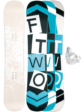 FTWO Whitedeck Wood 145 + LTD Fastec S Snowboard Set