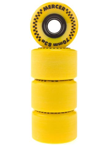Mercer Yellow 70mm 83A Rollen