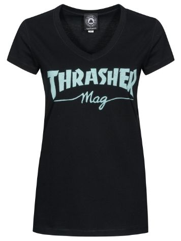 Thrasher Mag Logo V-Neck Camiseta