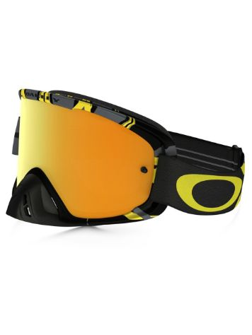 oakley elevate goggles 7xfx  7598; Oakley 02 Mx Intimidator Gun Metal Yellow