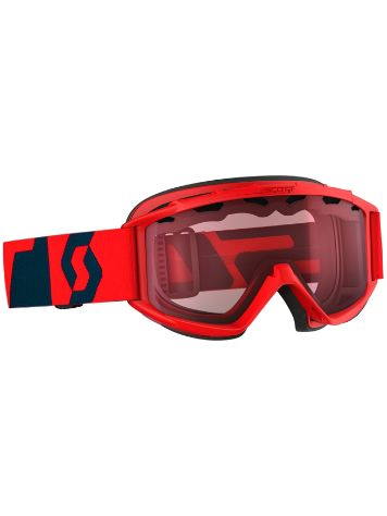 Scott Hook Up Fluo Red/Eclipse Blue Boys Goggle