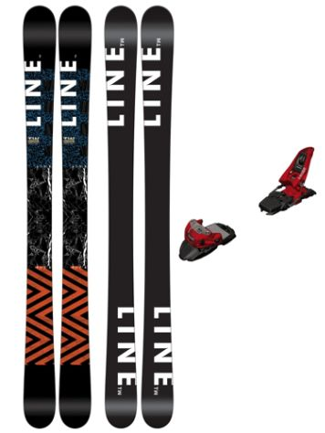 Line Tom Wallisch Shorty 147 + Squire 11 90mm r red 2017 Freeski-Set