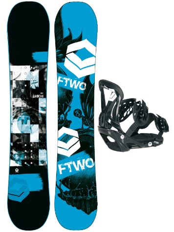 FTWO Union Blue 157MW + Sonic SMO L Blk 2017 Snowboard Set