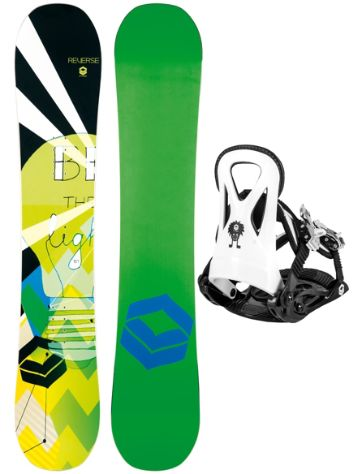 FTWO Reverse Rookie 100 + Rookie S 2017 Boys Snowboard Set