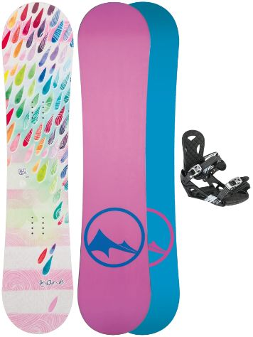 TRANS LTD Drops 130 + Eco XS/S 2017 Girls Snowboard Set