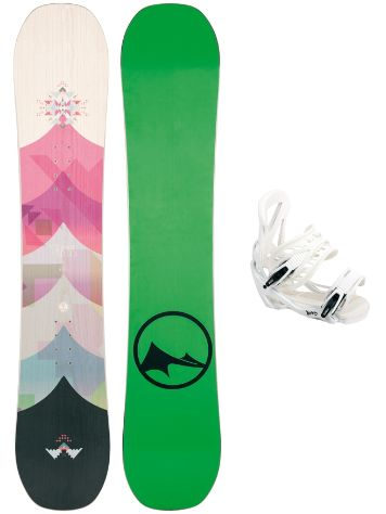 TRANS FR Wood 143 + Team SMO M Wht 2017 Snowboard Set