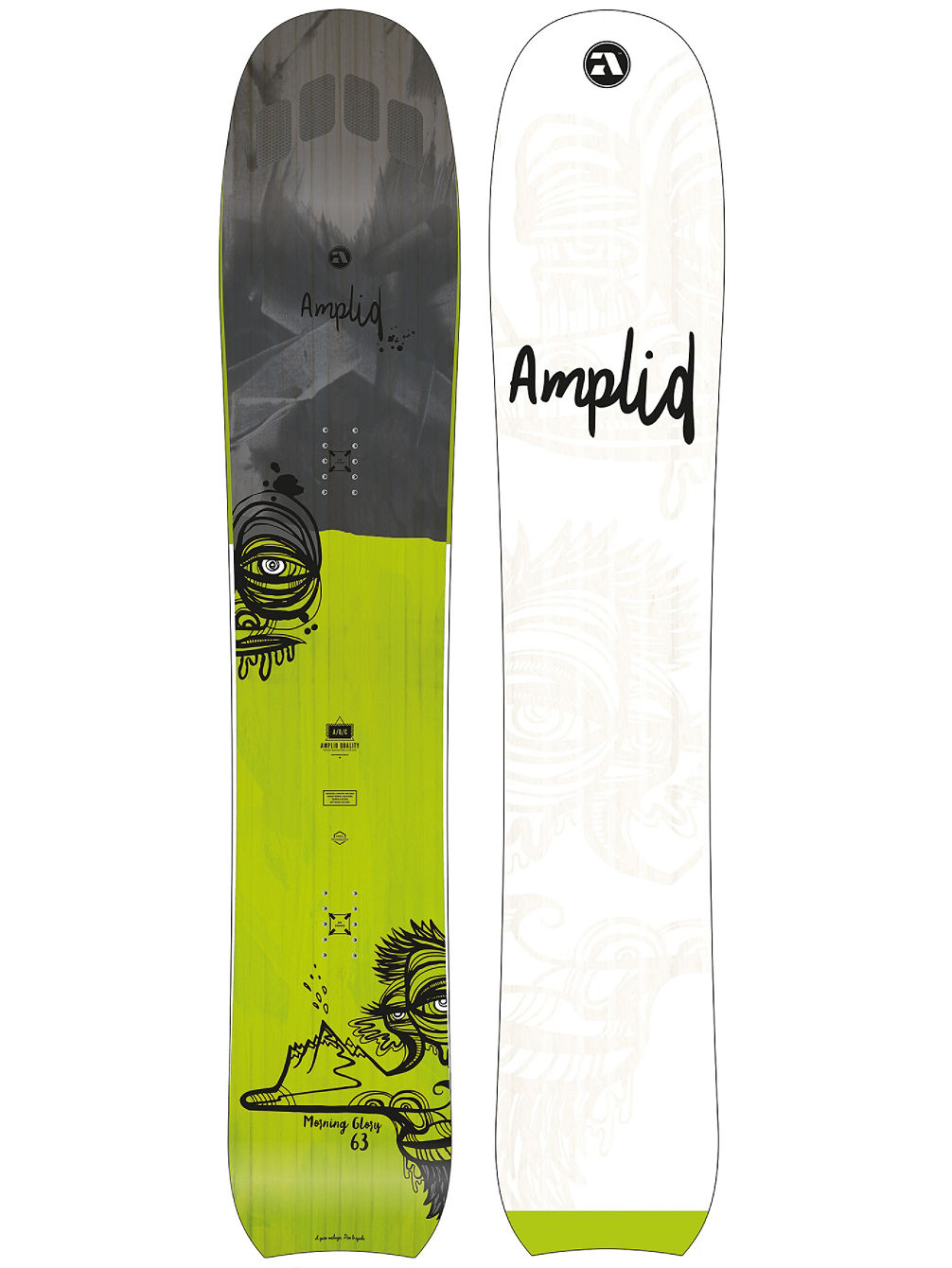 Compra Amplid The Morning Glory 163 2017 Snowboard online su blue ...