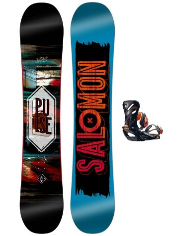 Salomon Pulse 160 + Rhythm Orange 2017 Snowboard Set