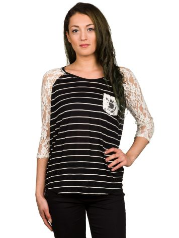 Empyre Girls Dana Stripe Lace T-Shirt