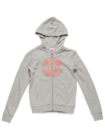 Rip Curl Animal Fleece Zip Hoodie Girls