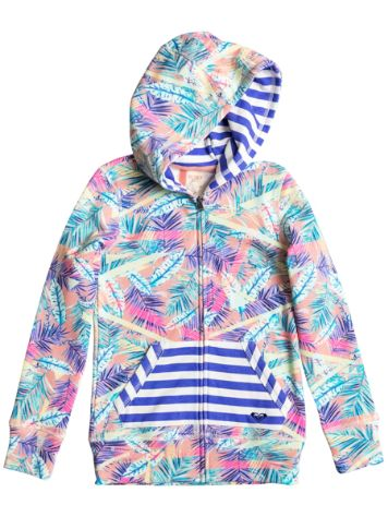 Roxy Burning Peacocks Print Zip Hoodie Girls