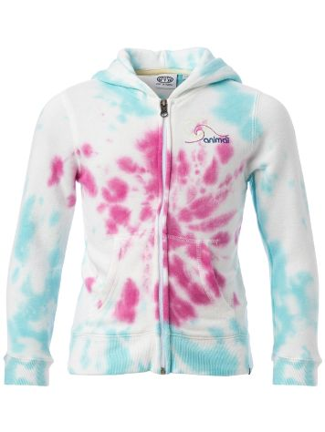 Animal Colour Run Zip Hoodie Girls