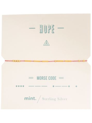 mint Hope Morse Code Gold Bracelet