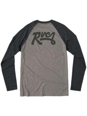 RVCA Loop Back Raglan T-Shirt LS ath htr w /  blk Gr. S