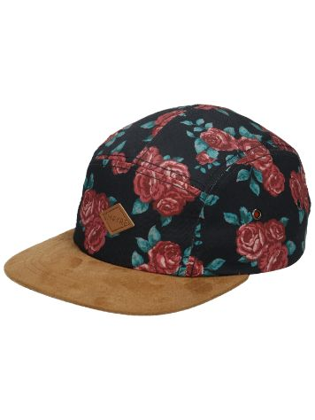 Empyre Girls Black Rose 5 Panel Gorra