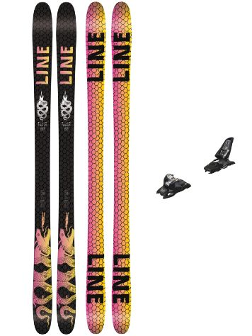 Line Tigersnake 164 + Squire 11 90mm black 2018 Freeski set