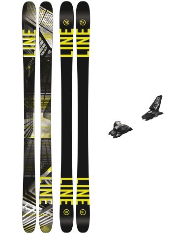 Line Tom Wallisch Pro 164 + Squire 11 90mm black 2018 Freeski set