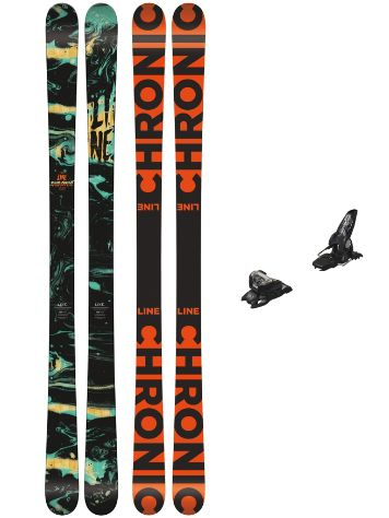 Line Chronic 178 + Griffon 13 90mm black 2018 Freeski set