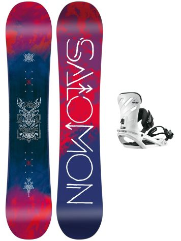 Salomon Lotus 138 + Rhythm White S 2018 Snowboard Set